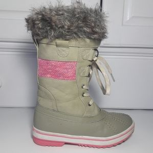 Northside Winter Snow Boots Size 3 Girl Sage Color